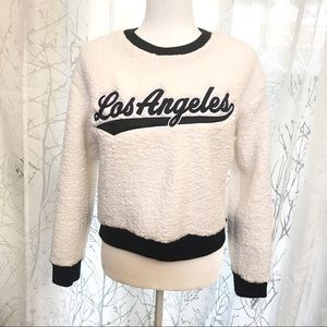 PINK Victoria's Secret Sherpa Los Angeles sweater
